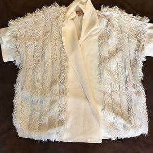 Ellen Tracy fur cardigan